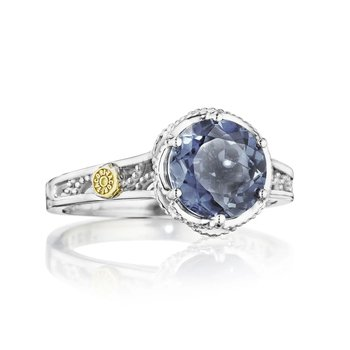 Crescent Crown Petite Crescent London Blue Topaz Ring