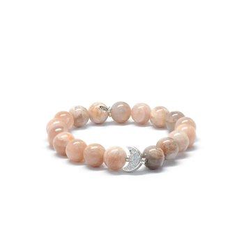 Bohème Silver Pave Moon Bracelet