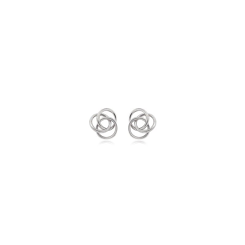 David Harvey Everyday Collection Sterling Silver Flat Love Knot Stud