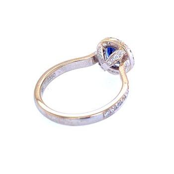 18KW 1.16ct Sapphire & Diamond Ring