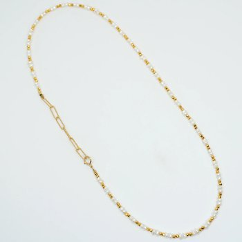 """Kenzie Two by Two Freshwater Pearl 18"""" Necklace"""