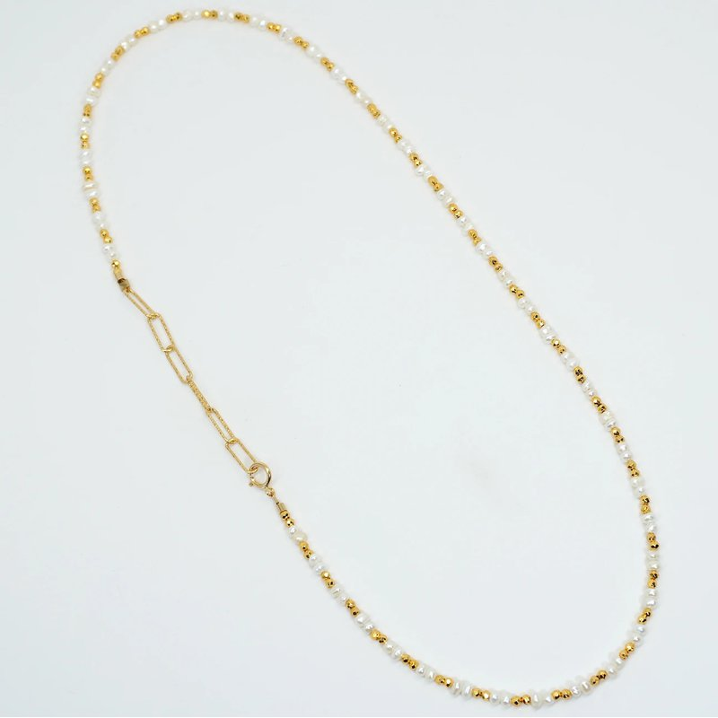 """Mined and Found Kenzie Two by Two Freshwater Pearl 18"""" Necklace"""