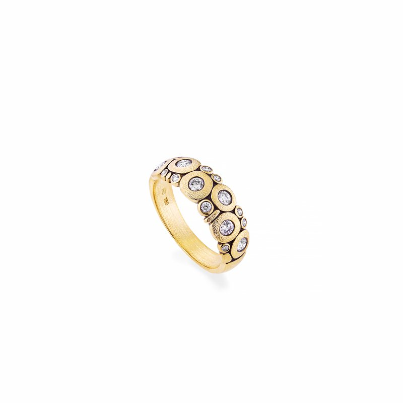 """Alex Sepkus Gold and Diamond """"Candy"""" Dome Ring"""