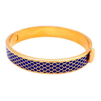 10mm GP Cobalt Enamel Salamander Bangle