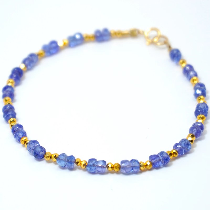 Mined and Found Kenzie Two by Two Tanzanite Bracelet