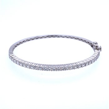14KW 2.00ct Diamond Bangle