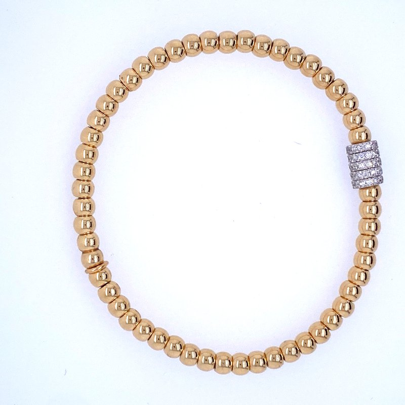 David Harvey Everyday Collection 18k Yellow Gold Beaded Bracelet