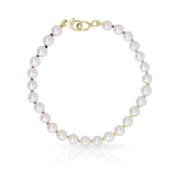 Knotty Mini Freshwater Bracelet on Rainbow Silk™