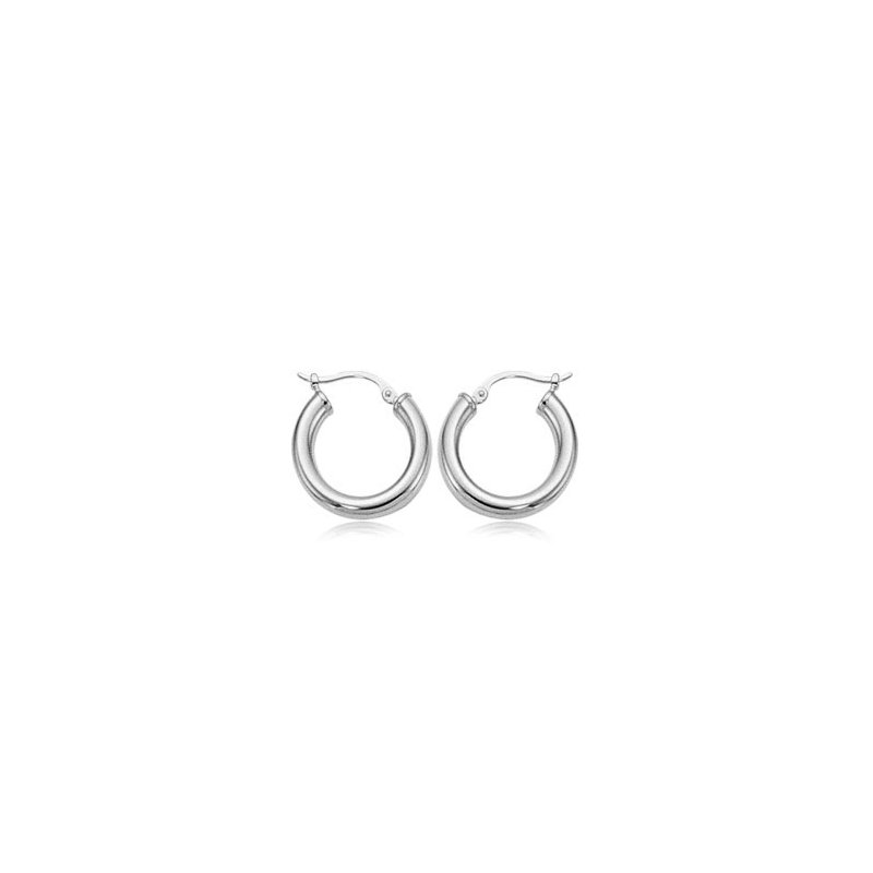 David Harvey Everyday Collection Sterling Silver 18mm Tube Hoops