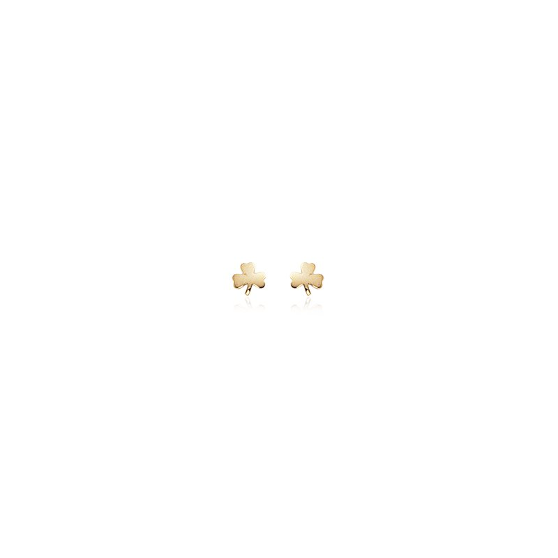 David Harvey Everyday Collection 14K Yellow Gold Small Clover Studs