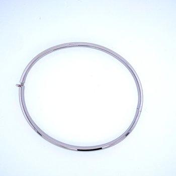 14k White Gold 5mm Hinged Bangle Bracelet