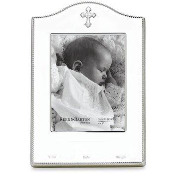 "Abbey Cross Silverplate Birth Record 4"" x 6"" Frame"