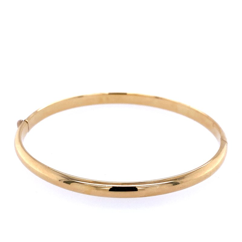 David Harvey Everyday Collection 14k Yellow Gold Oval Hinged Bangle