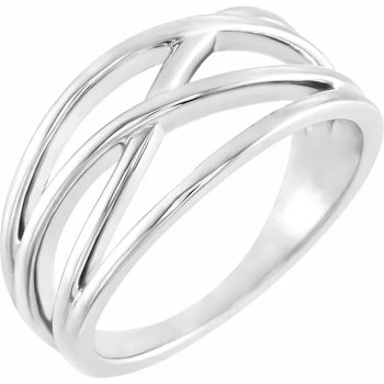 """""""Create Your Own"""" Criss-Cross Mother's Ring"""