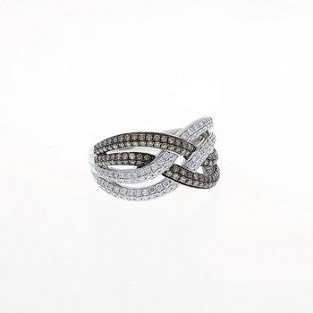 White & Chocolate Diamond White Gold Ring