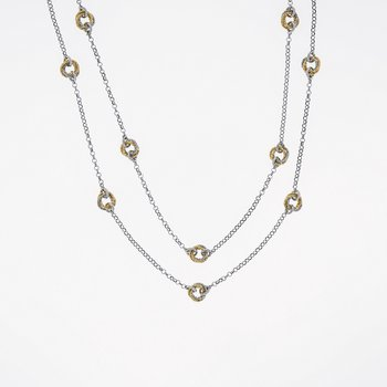 Tr-Ring Sterling Silver Necklace