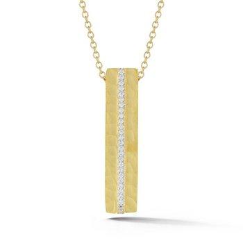 14k Yellow Gold Hammered Pendant