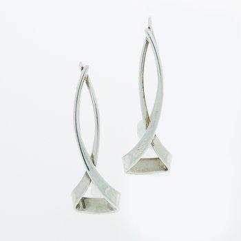 Hourglass Sterling Silver Earrings