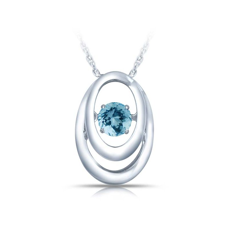 J.F. Kruse Signature Collection Sterling Silver Birthstone Pendant