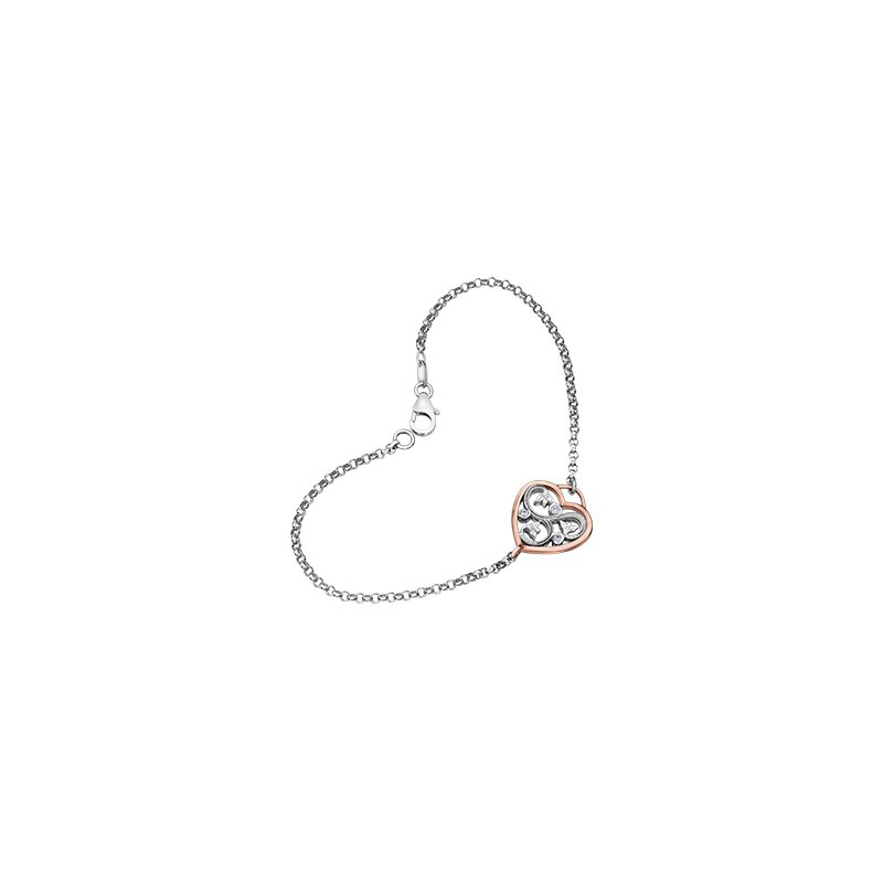 Maple Leaf Diamonds Summer Enchanted Heart Bracelet