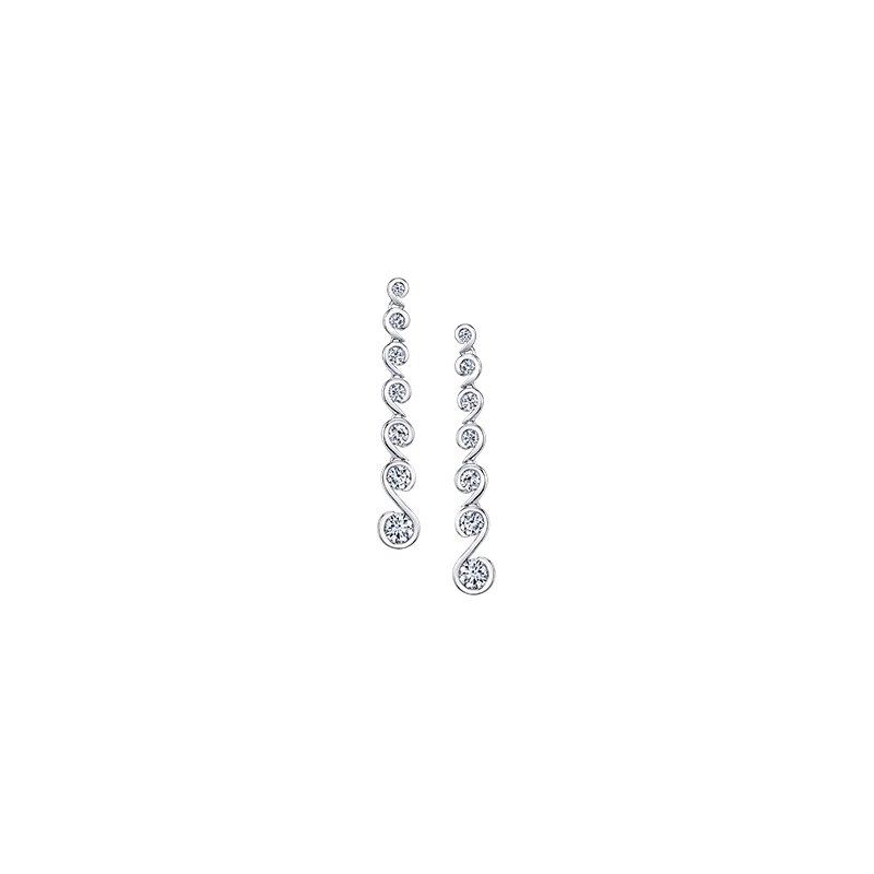 Maple Leaf Diamonds Tides of Love Drop Earrings