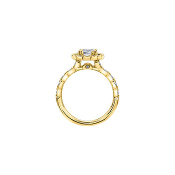 Winter Ice Princess Engagement Ring in Yellow Gold