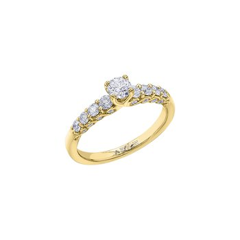 Tides of Love Diamond Set Engagement Ring in Yellow Gold