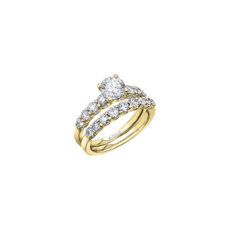 Maple Leaf Diamonds Tides of Love Diamond Set Engagement Ring in Yellow Gold