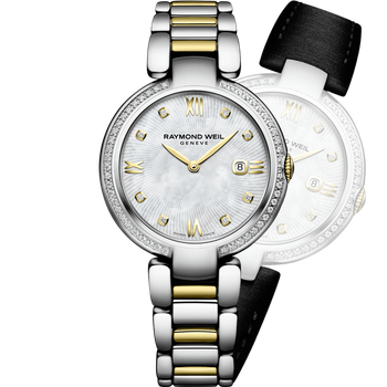 Shine Ladies Two-Tone With Mother of Pearl and Diamonds Quartz Watch