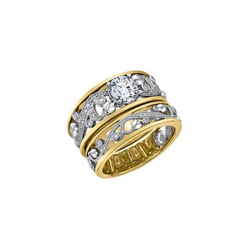 Summer Enchanted Garden Ring in Yellow Gold