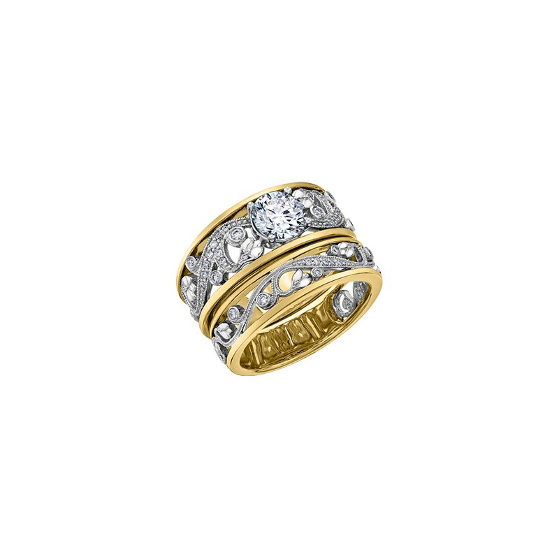 Maple Leaf Diamonds Summer Enchanted Garden Ring in Yellow Gold