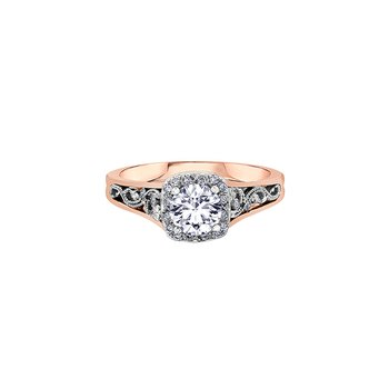 Summer Enchanted Filigree Engagement Ring