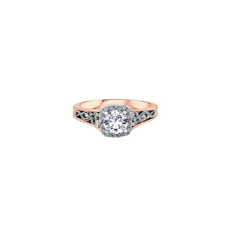 Maple Leaf Diamonds Summer Enchanted Filigree Engagement Ring