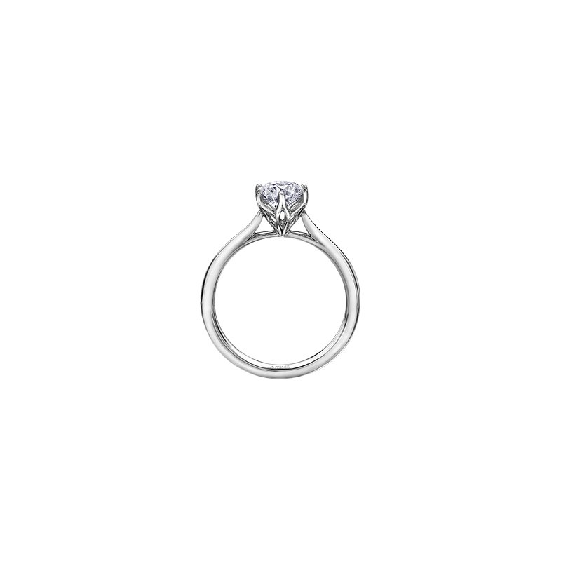 Maple Leaf Diamonds Eternal Flames 6 Prong Solitaire Ring in White Gold