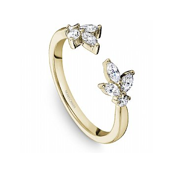 Diamond Floral Open Ring