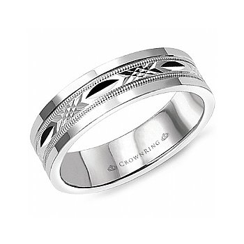 Carved Centre Wedding Band
