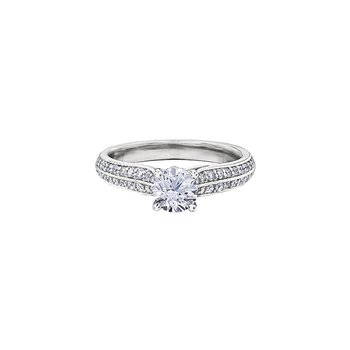 Circle of Love Double Row Diamond Set Engagement Ring