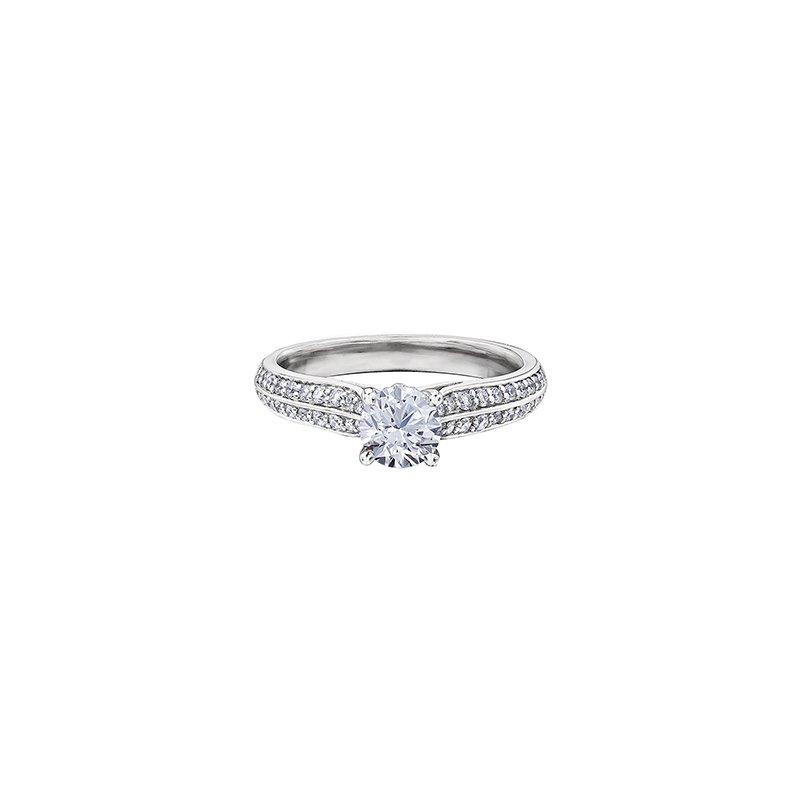 Maple Leaf Diamonds Circle of Love Double Row Diamond Set Engagement Ring