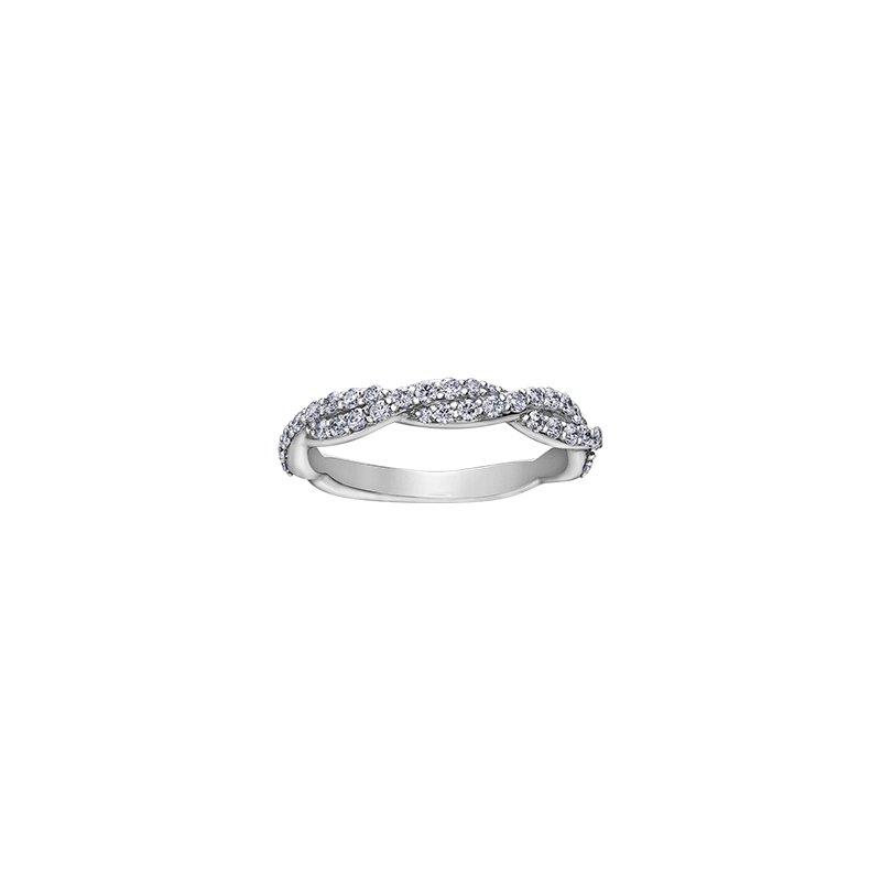 Maple Leaf Diamonds 150 Cut Collection Diamond Set Infinity Engagement Ring