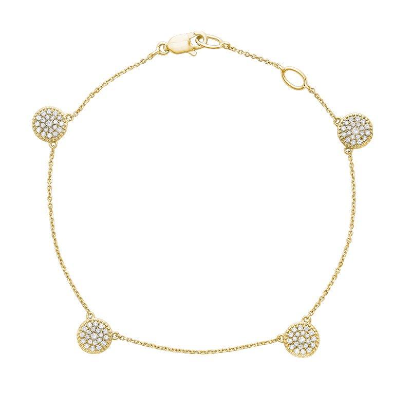 RnB Jewellery Diamond Cluster Bracelet