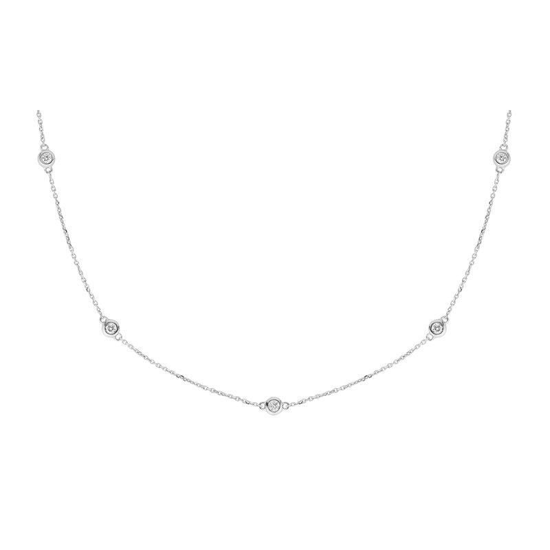 RnB Jewellery Diamond Station Necklace
