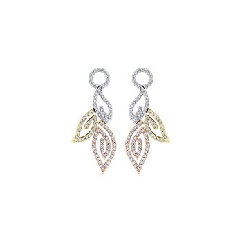 Diamond Leaves Drop Earrings