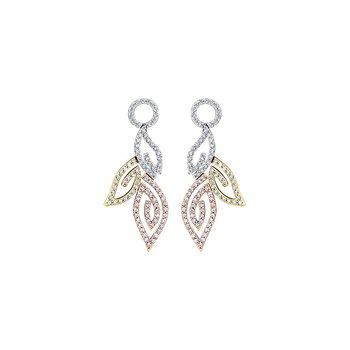 Diamond Leaves Drop Earrings