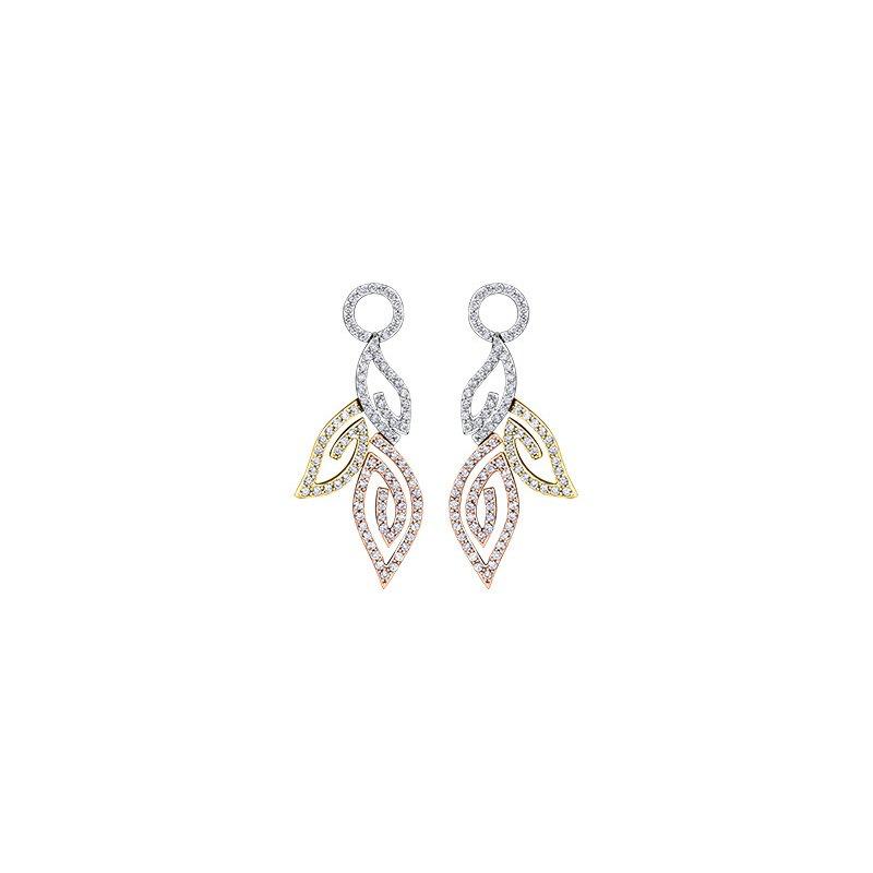 Maple Leaf Diamonds Diamond Leaves Drop Earrings