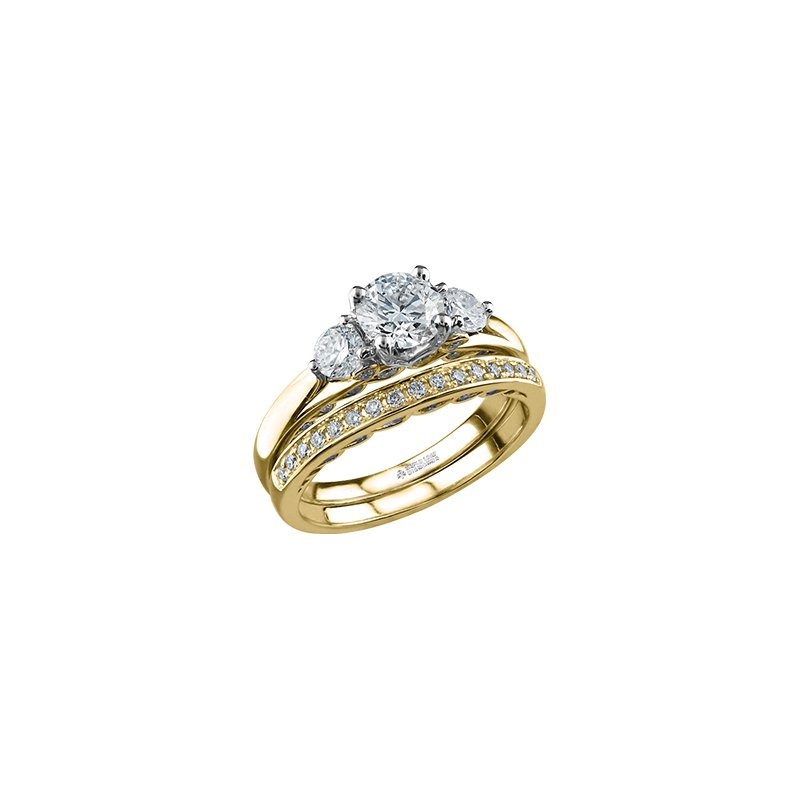 Maple Leaf Diamonds Tides of Love Three Stone Engagement Ring in Yellow Gold