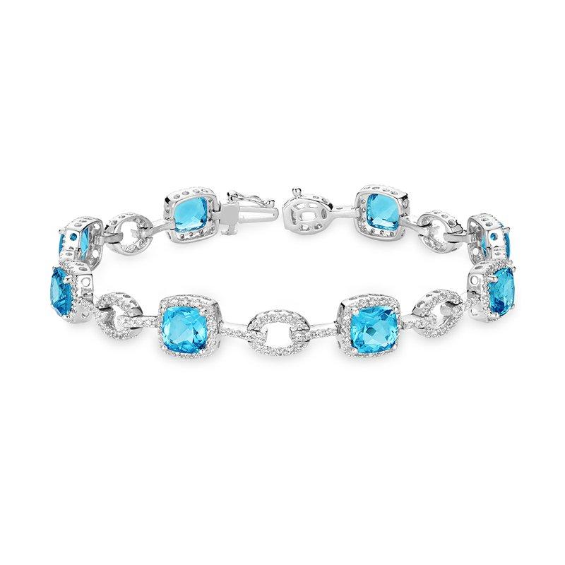 RnB Jewellery Blue Topaz and Diamond Bracelets