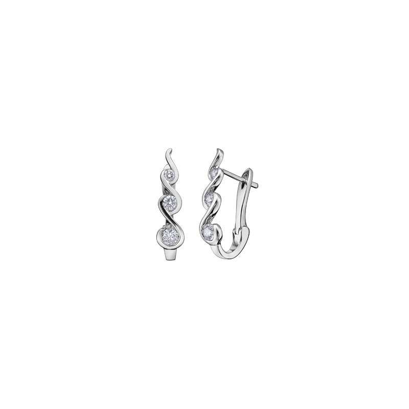 Maple Leaf Diamonds Tides of Love Huggie Earrings