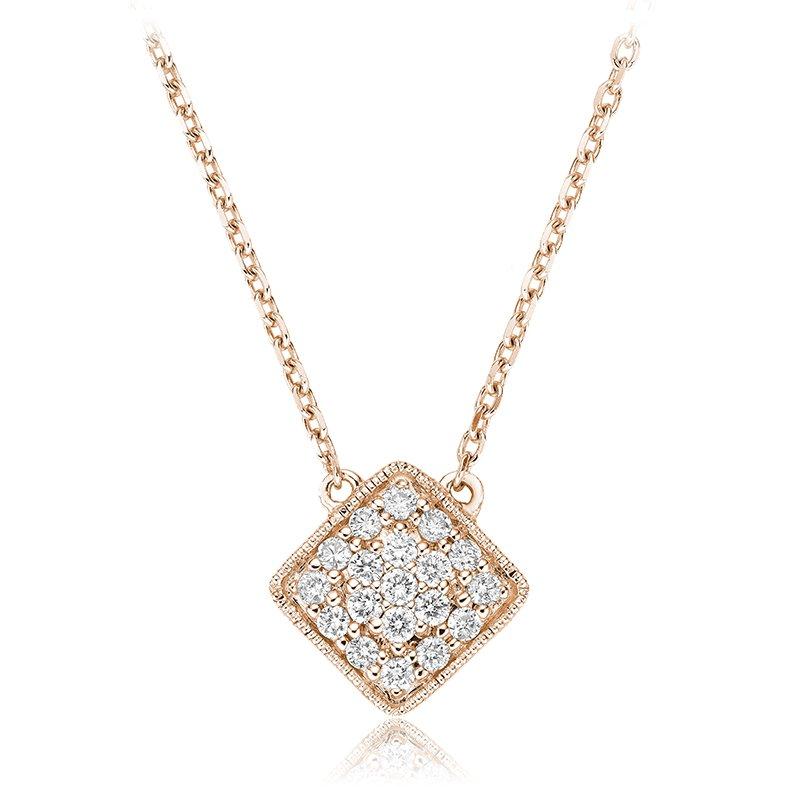 RnB Jewellery Pave Diamond Square Necklace