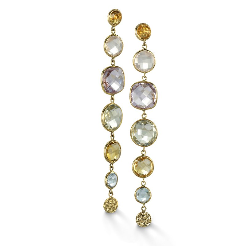B Couture Multi-Stone Drop Earrings