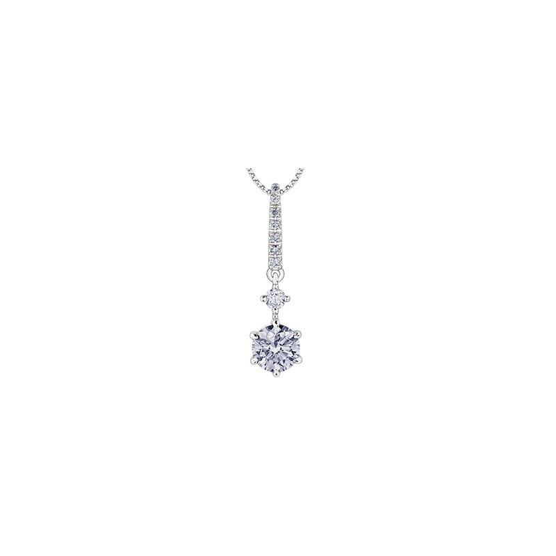 Maple Leaf Diamonds Solitaire Diamond Drop Pendant